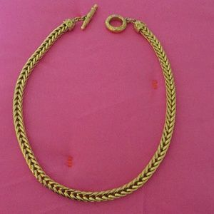 Heavy Gold Necklace with Gorgeous Clasp
